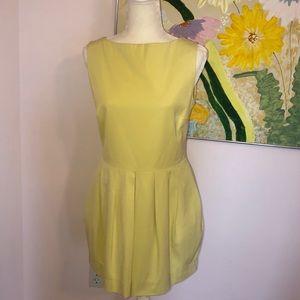 Classic Yellow Shift Dress